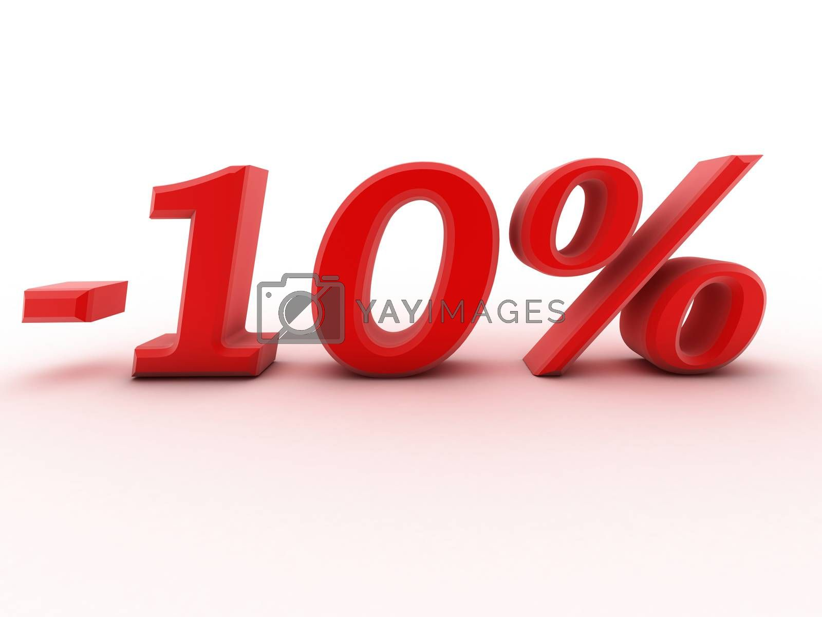 Royalty free image of 3d 10 percent off digits image by dacasdo