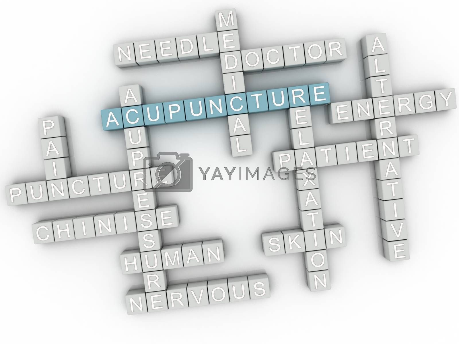 Royalty free image of 3d image Acupuncture issues concept word cloud background by dacasdo