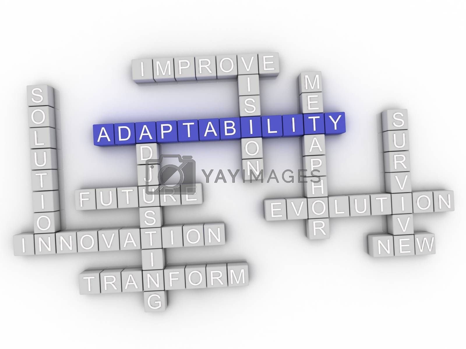 Royalty free image of 3d image Adaptability word cloud concept by dacasdo