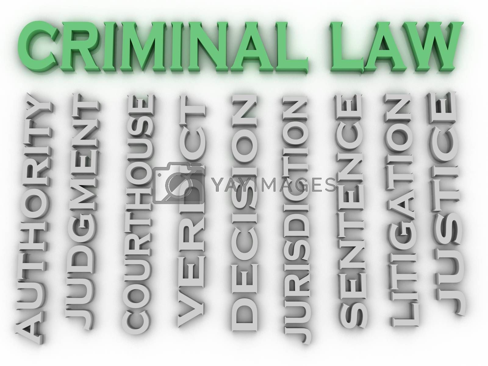 Royalty free image of 3d image Criminal law word cloud concept by dacasdo