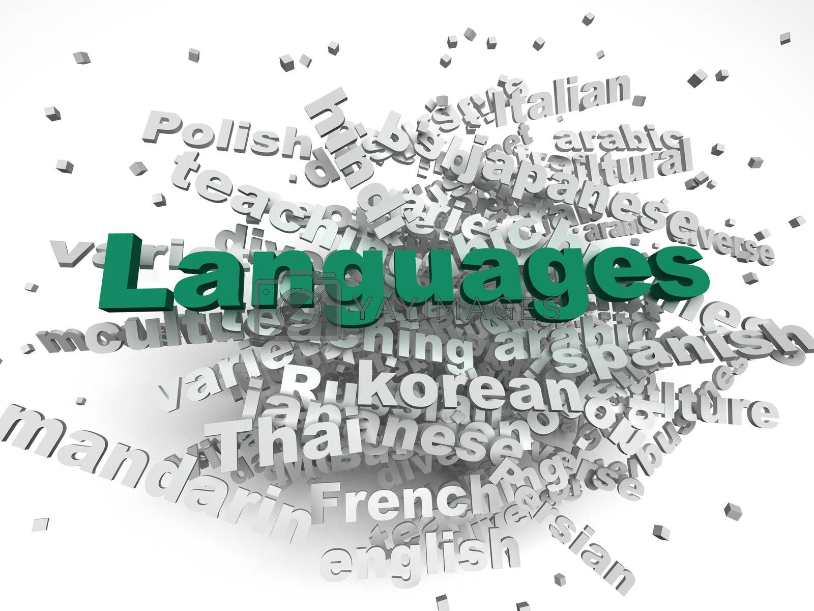 Royalty free image of 3d image Languages of the world issues concept word cloud backgr by dacasdo