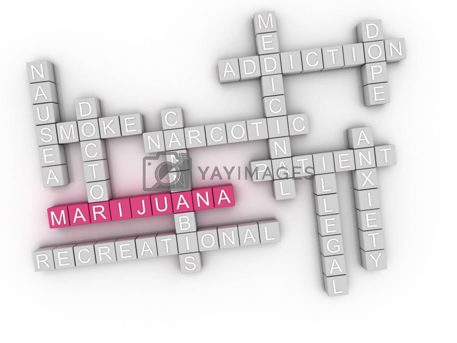 Royalty free image of 3d image Marijuana word cloud concept by dacasdo