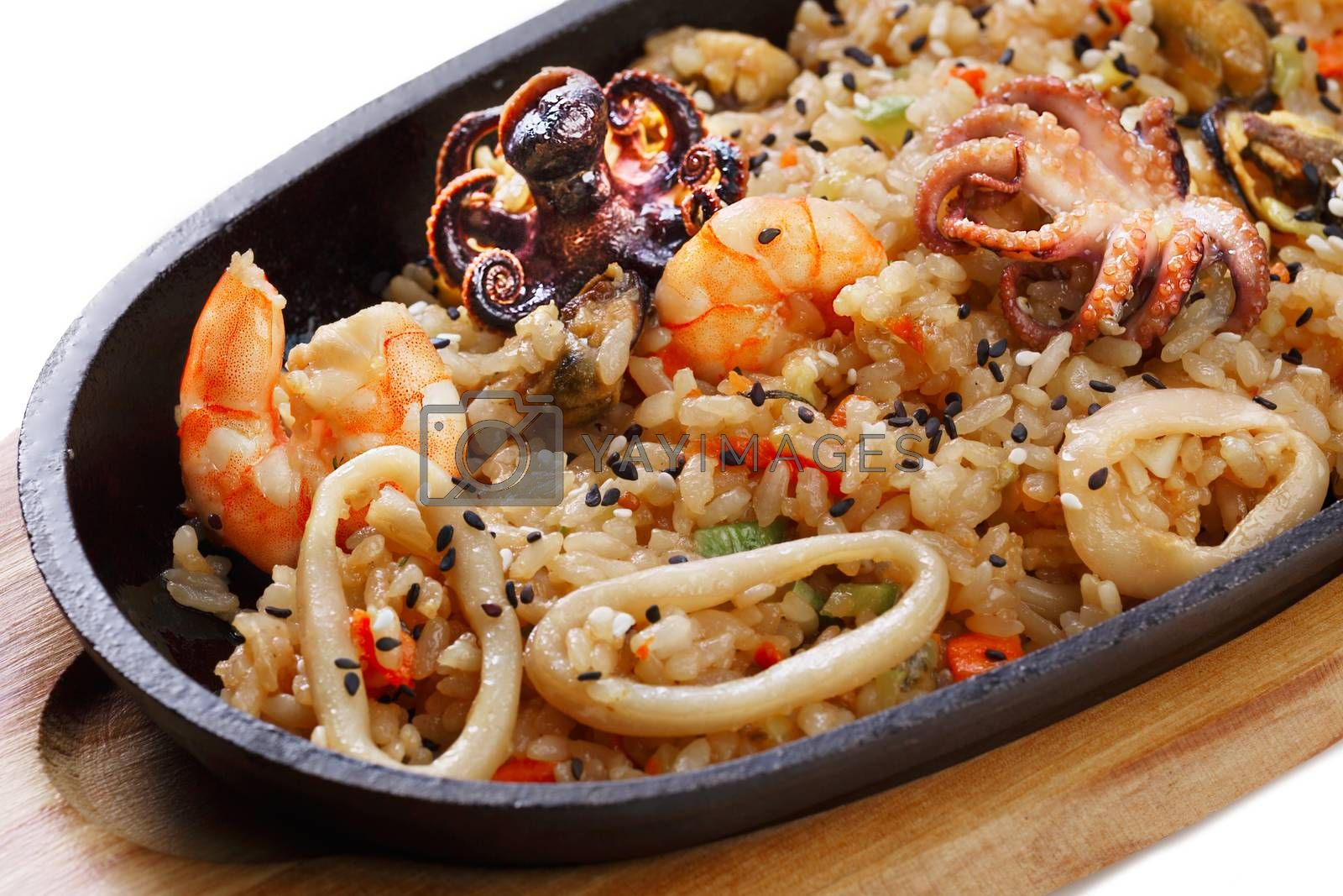Royalty free image of Rice with seafood by maxsol