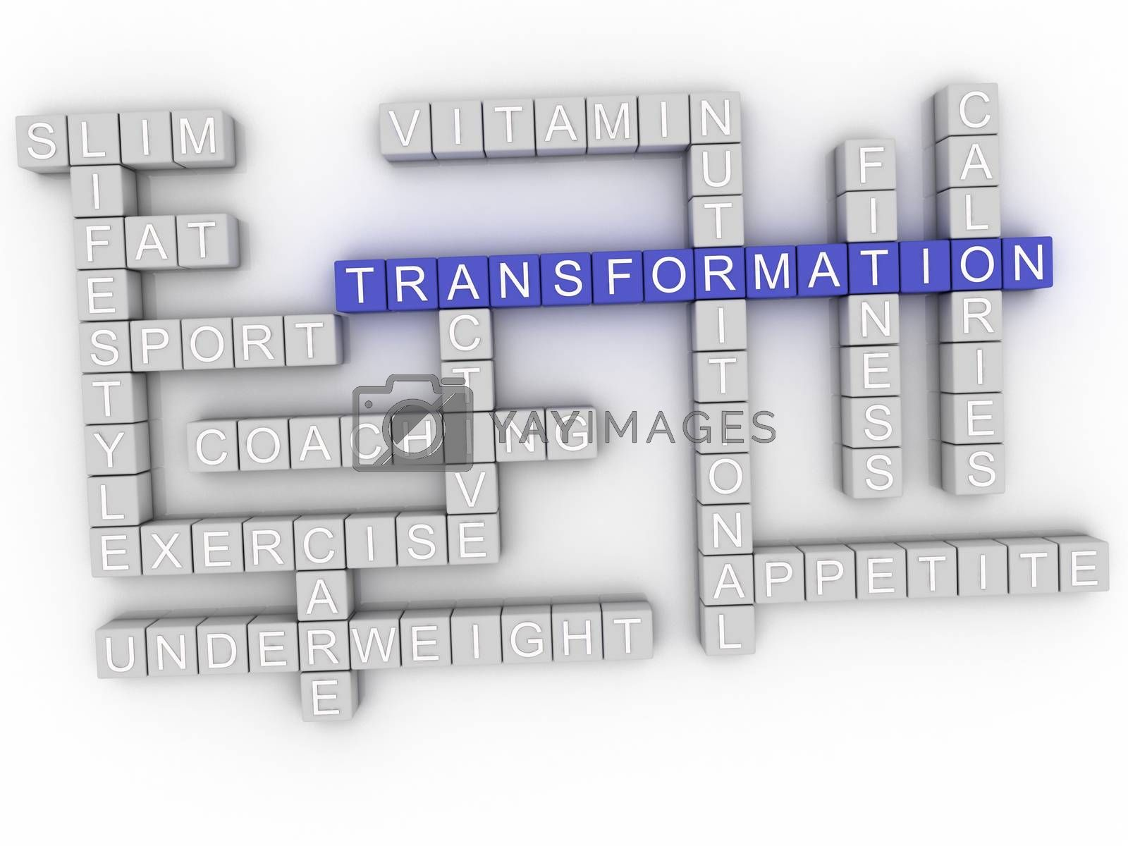 Royalty free image of 3d image Transformation word cloud concept by dacasdo