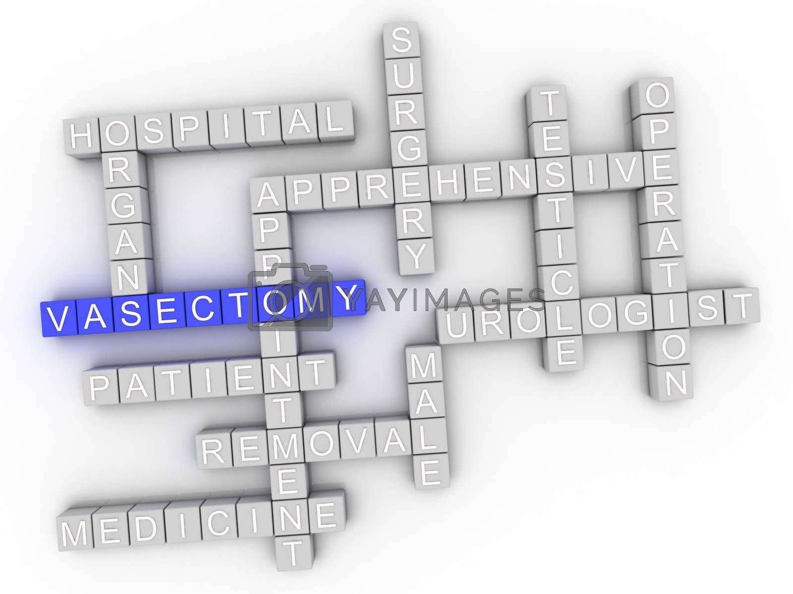 Royalty free image of 3d image Vasectomy issues concept word cloud background by dacasdo
