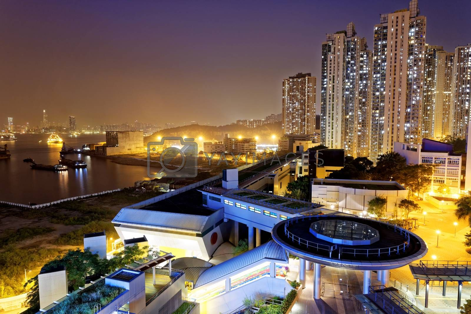 Royalty free image of hong kong public estate  by cozyta