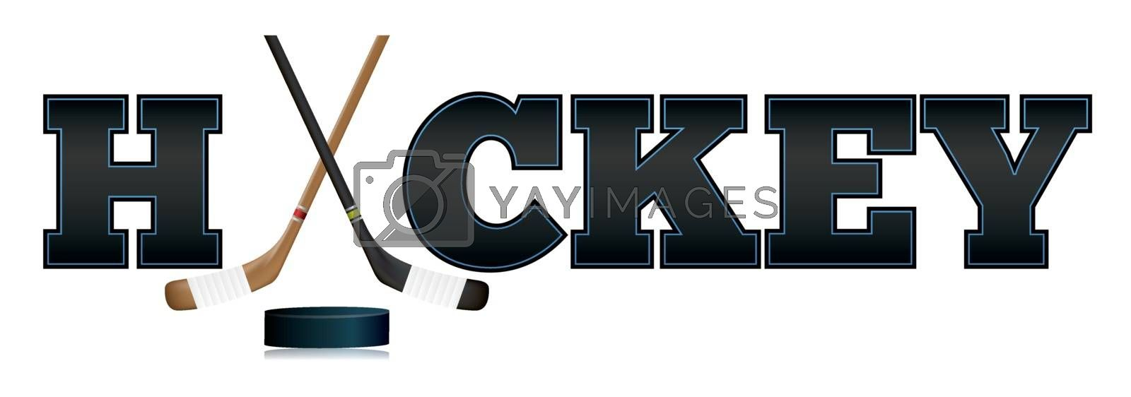 Royalty free image of Hockey Word Art Illustration by enterlinedesign