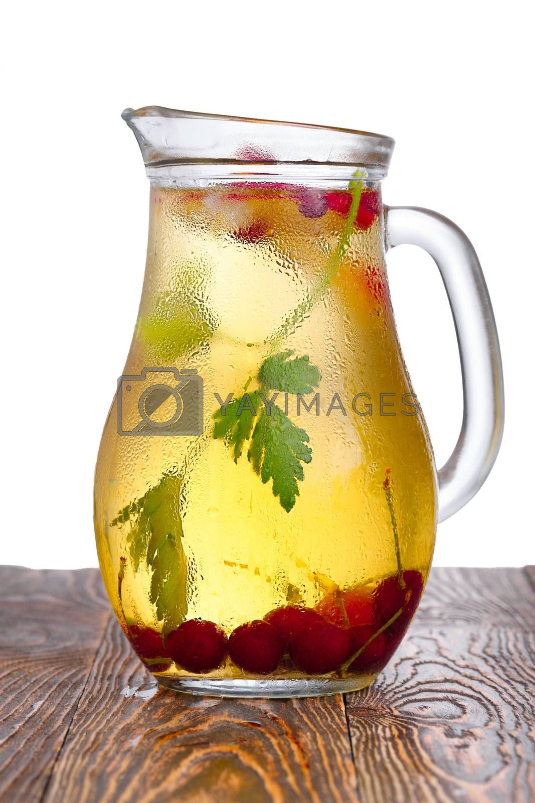 Royalty free image of Spritzer (schorle) soft drink pitcher by maxsol