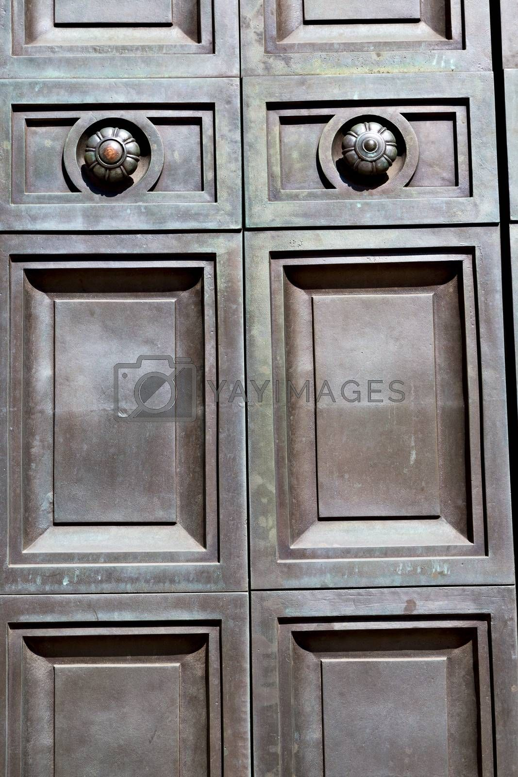 Royalty free image of in london antique brown door   and light by lkpro