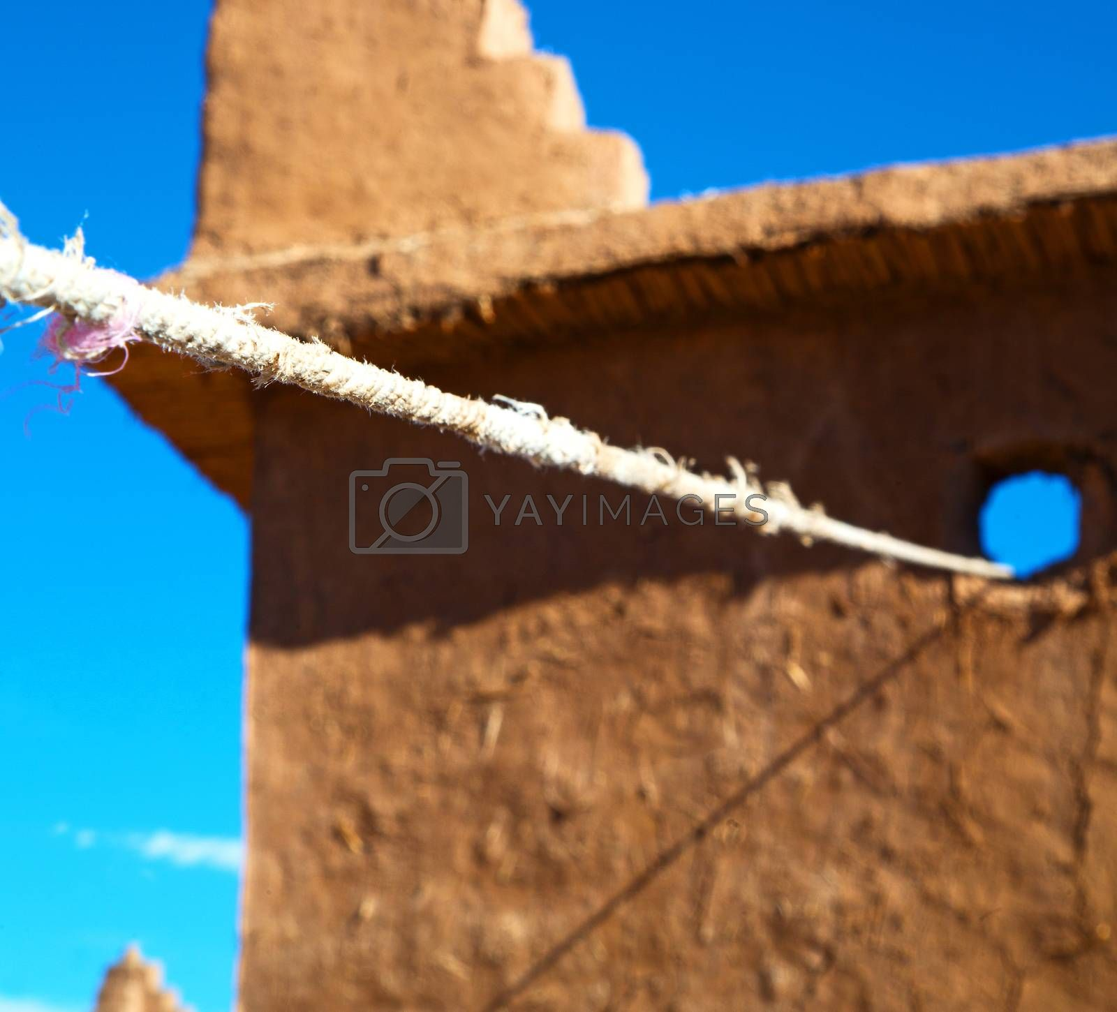 Royalty free image of moroccan old wall and brick in antique city by lkpro