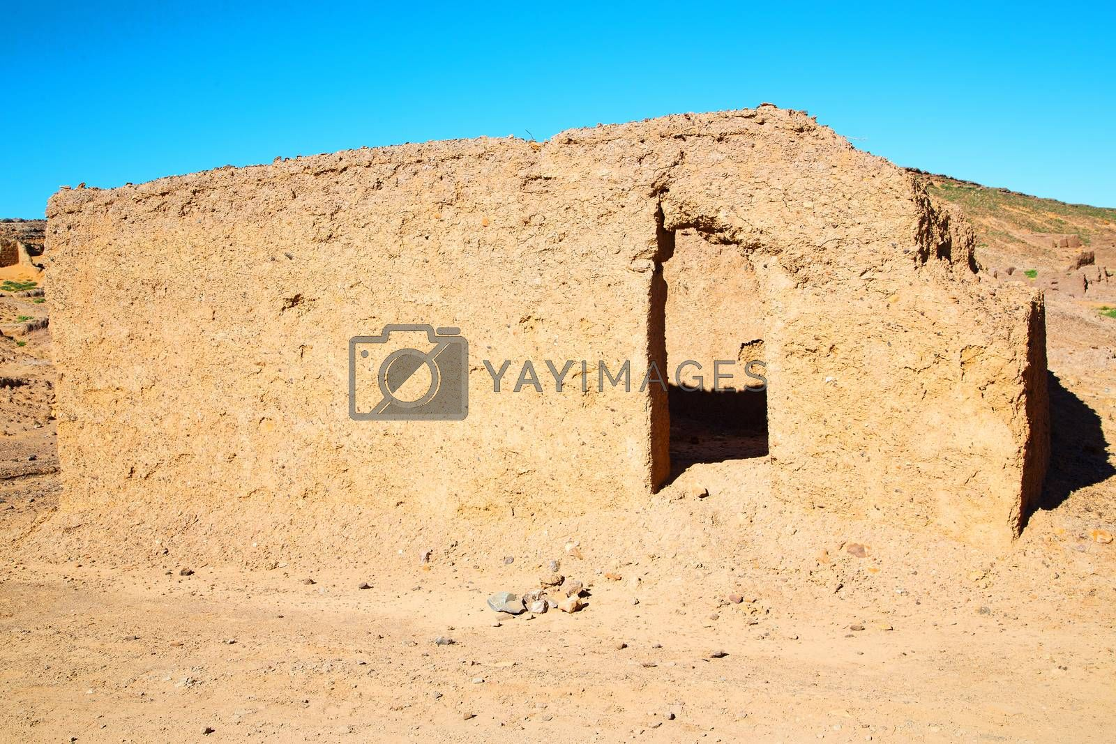Royalty free image of moroccan old wall  city by lkpro