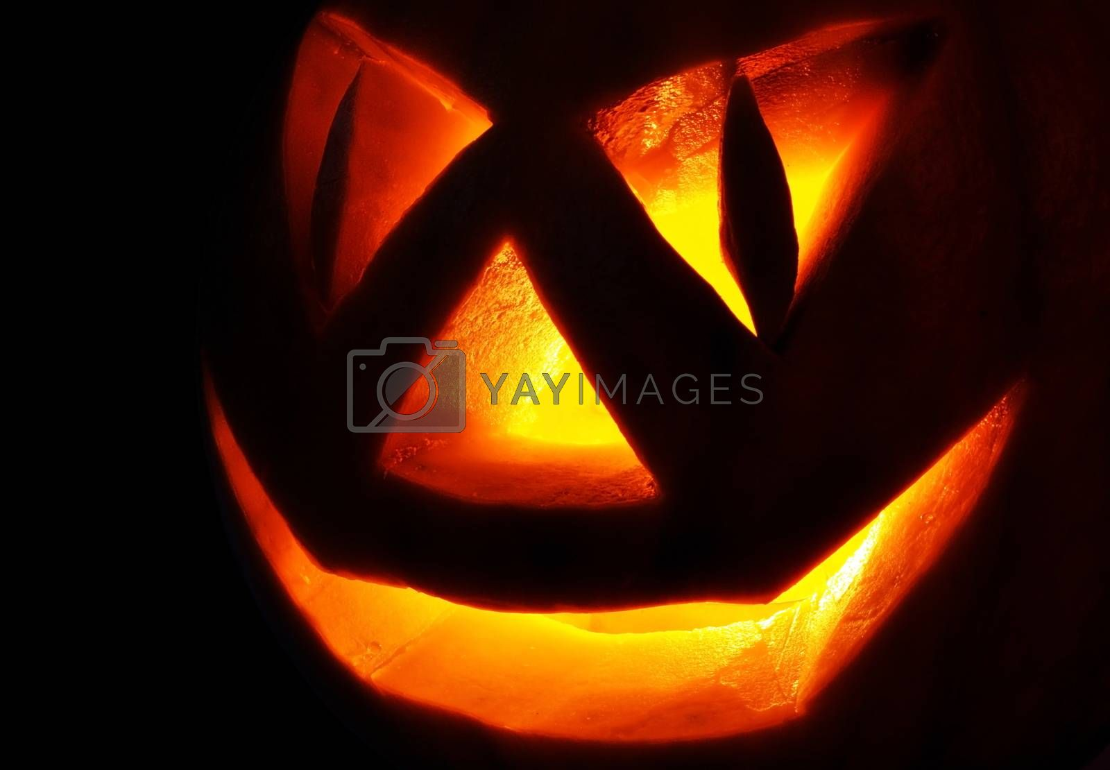 Royalty free image of Jack O Lantern In the dark by alexcoolok