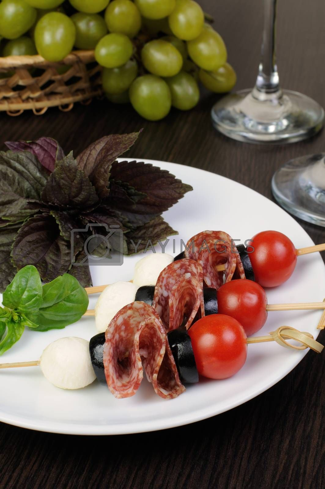 Royalty free image of Appetizer of Salami by Apolonia
