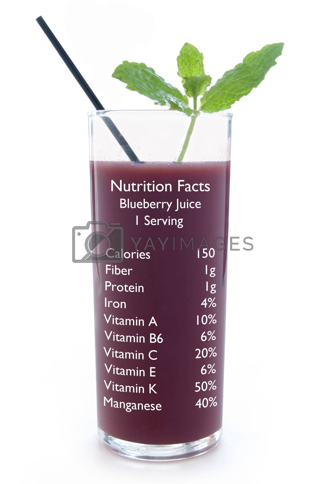 Blueberry juice nutrition facts  by unikpix