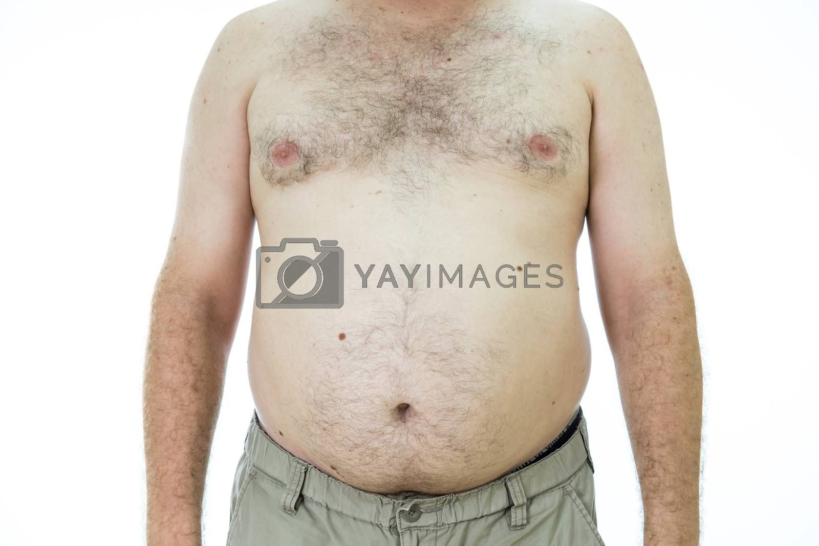 Royalty free image of Man with fat stomach by imagesbykenny