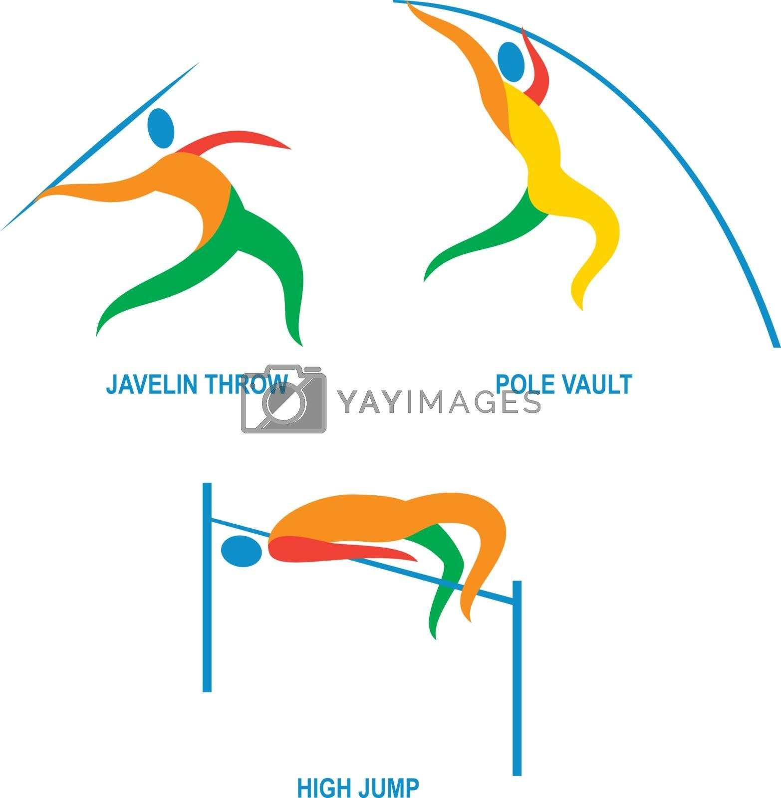 Royalty free image of Javelin Throw Pole Vault High Jump Icon by patrimonio