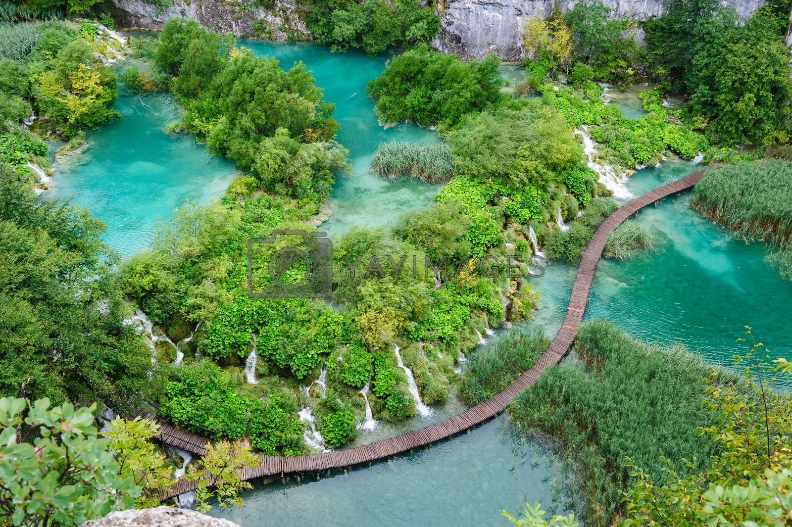 Royalty free image of Beautiful waterfalls in Plitvice Lakes National Park, Croatia by starush