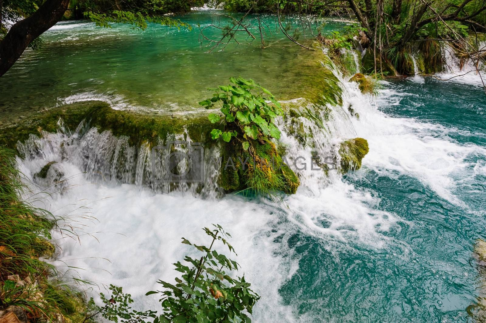 Royalty free image of Waterfalls in Plitvice Lakes National Park, Croatia by starush