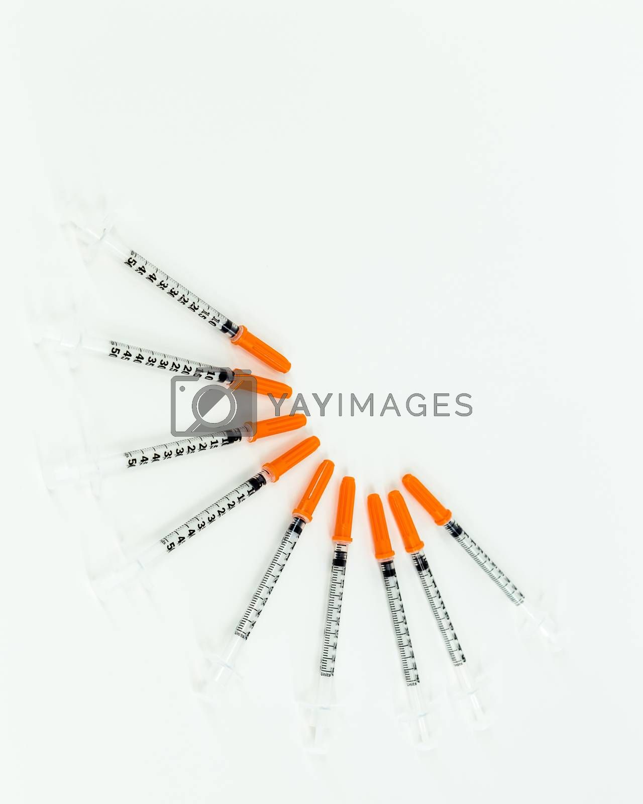 Royalty free image of Syringes fanned out by imagesbykenny