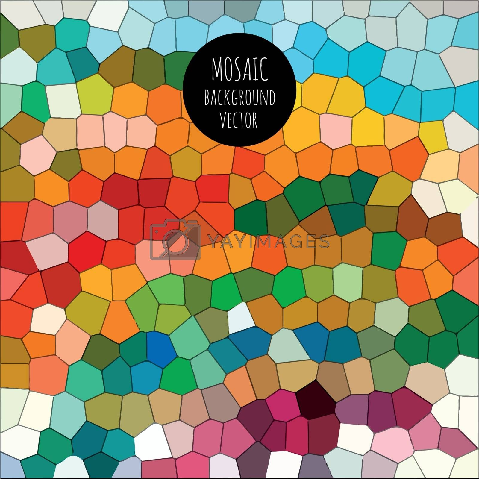 Colorful and abstract mosaic background.