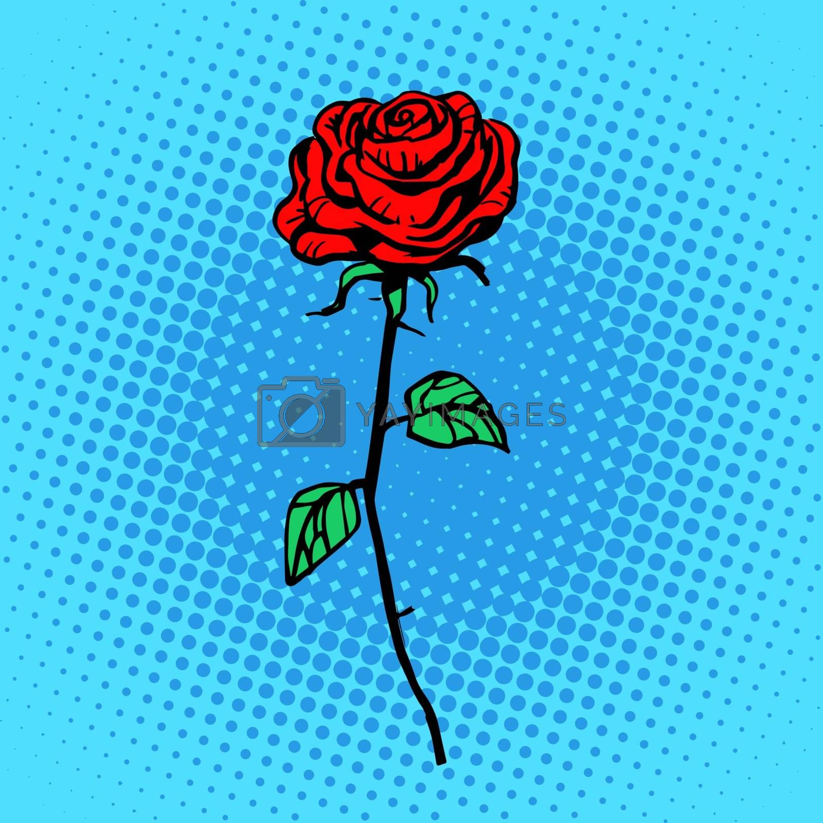 Royalty free image of Flower red rose stem with thorns by studiostoks
