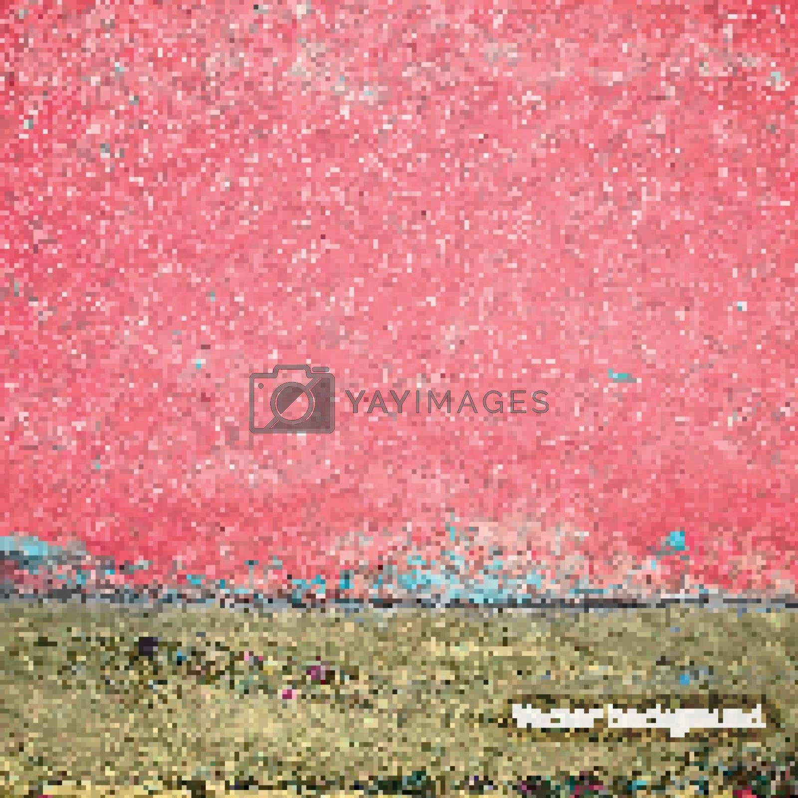 Vector with realistic grunge texture background.