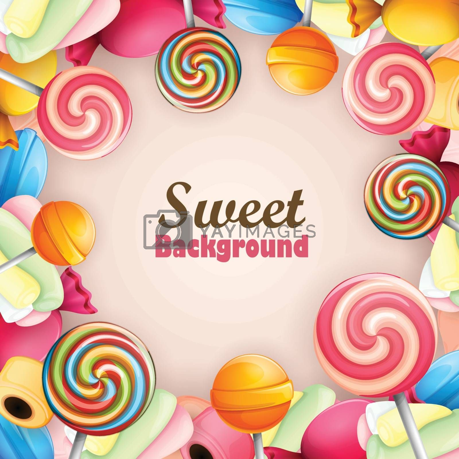 Background with a sweets theme.