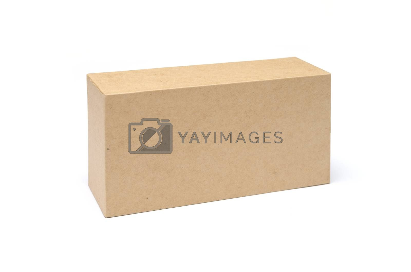 Royalty free image of Cardboard Box isolated on a white background by DNKSTUDIO
