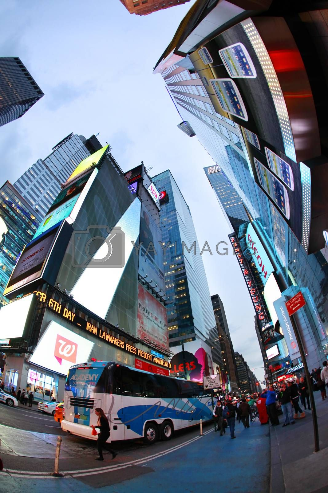 NEW YORK CITY - OCTOBER 9: Times Square featured with Broadway Theaters and huge number of LED signs is a symbol of New York City and the United States October 9 2012 in Manhattan, New York City
