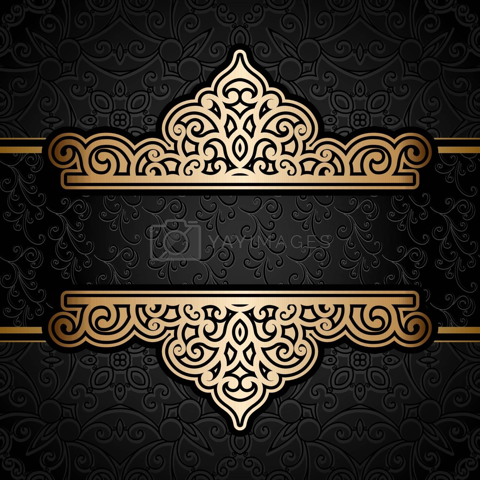 Vector illustration with abstract design element.