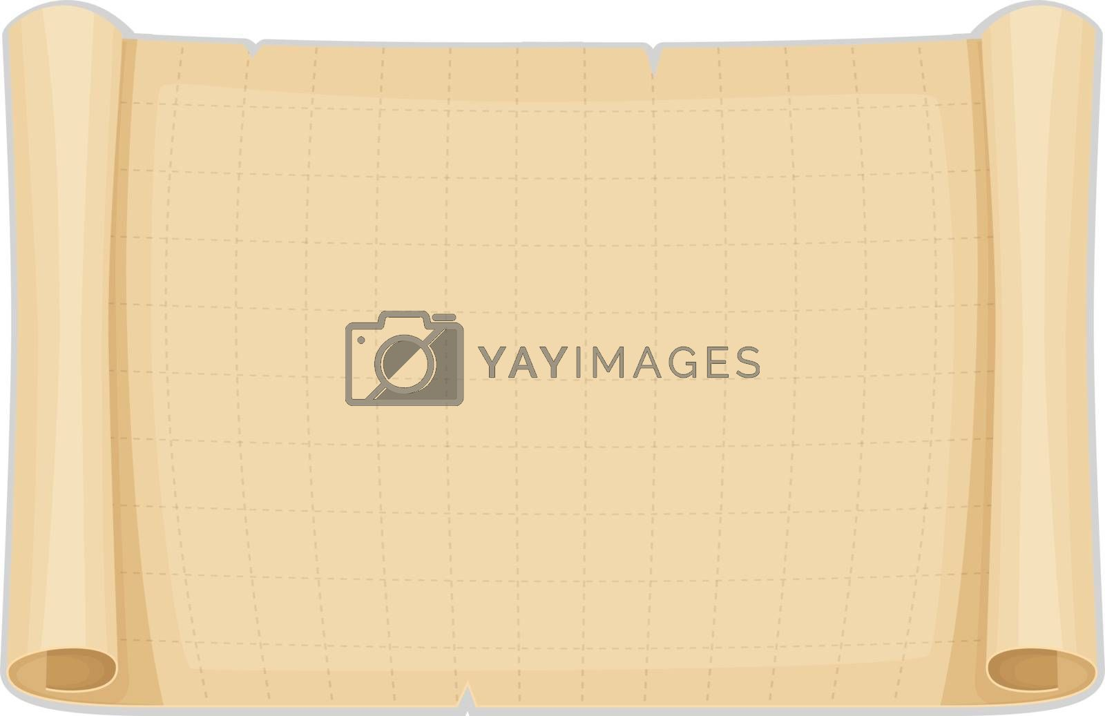 Vector illustration of Old papyrus background template
