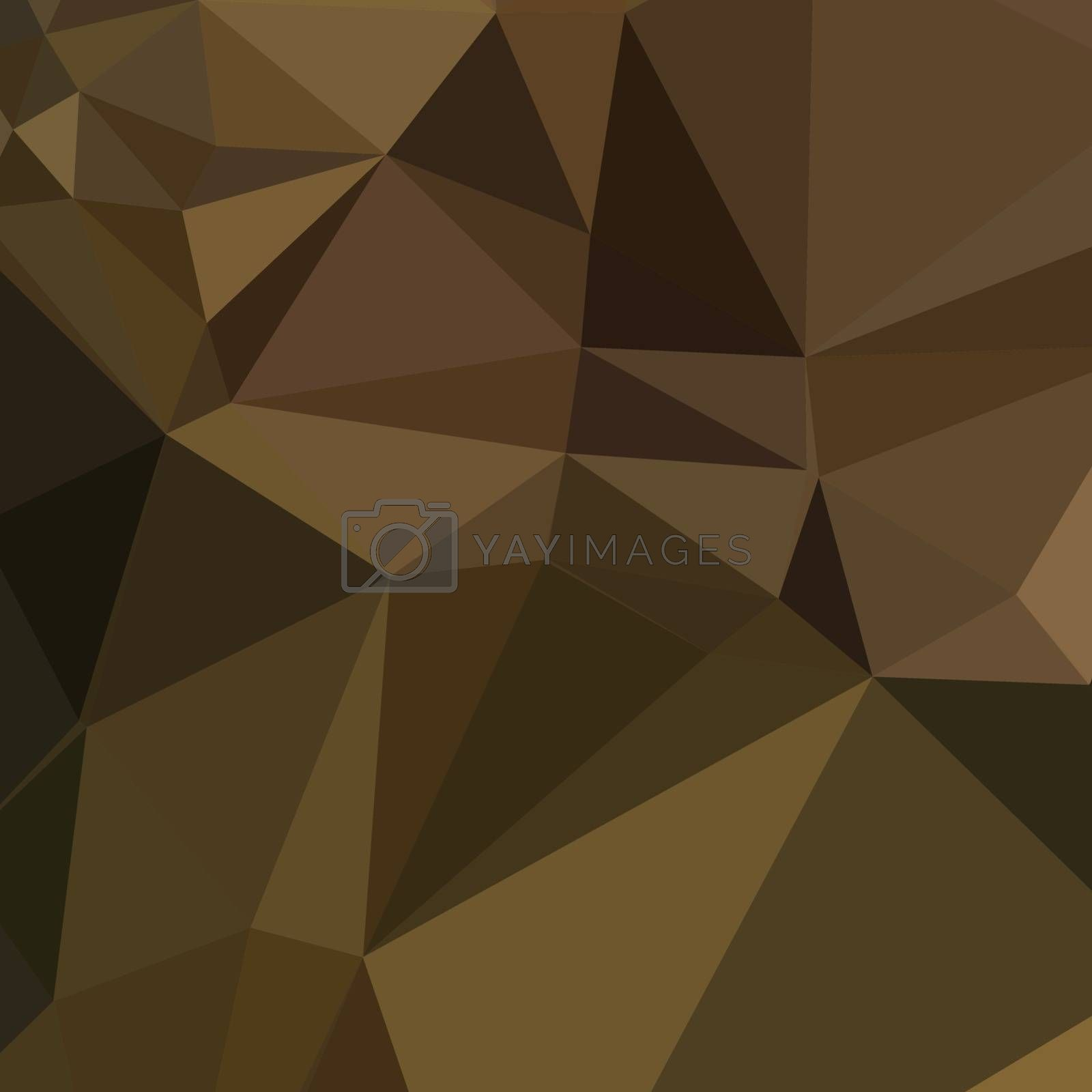Low polygon style illustration of a carput mortuum brown abstract geometric background.