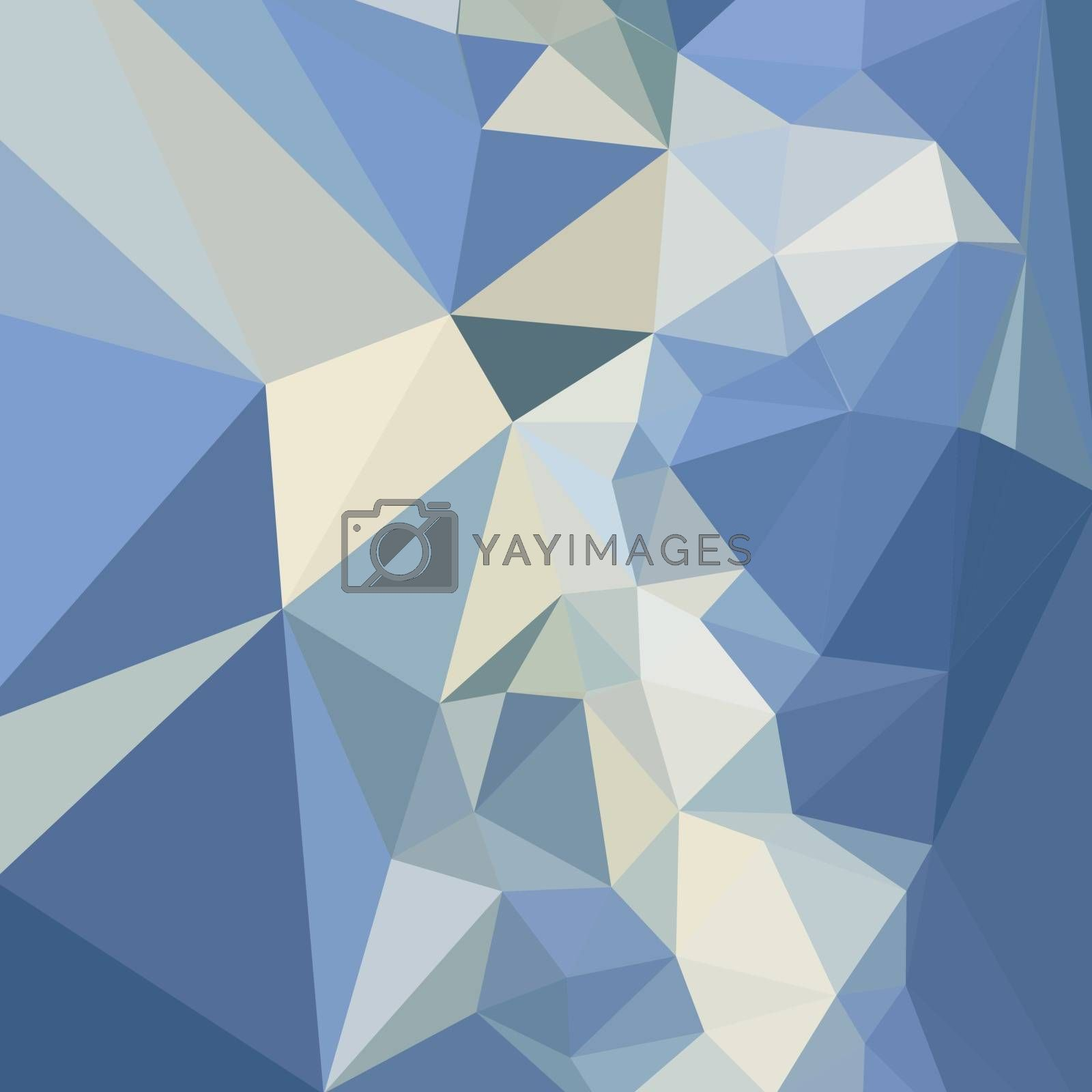 Low polygon style illustration of a columbia blue abstract geometric background.