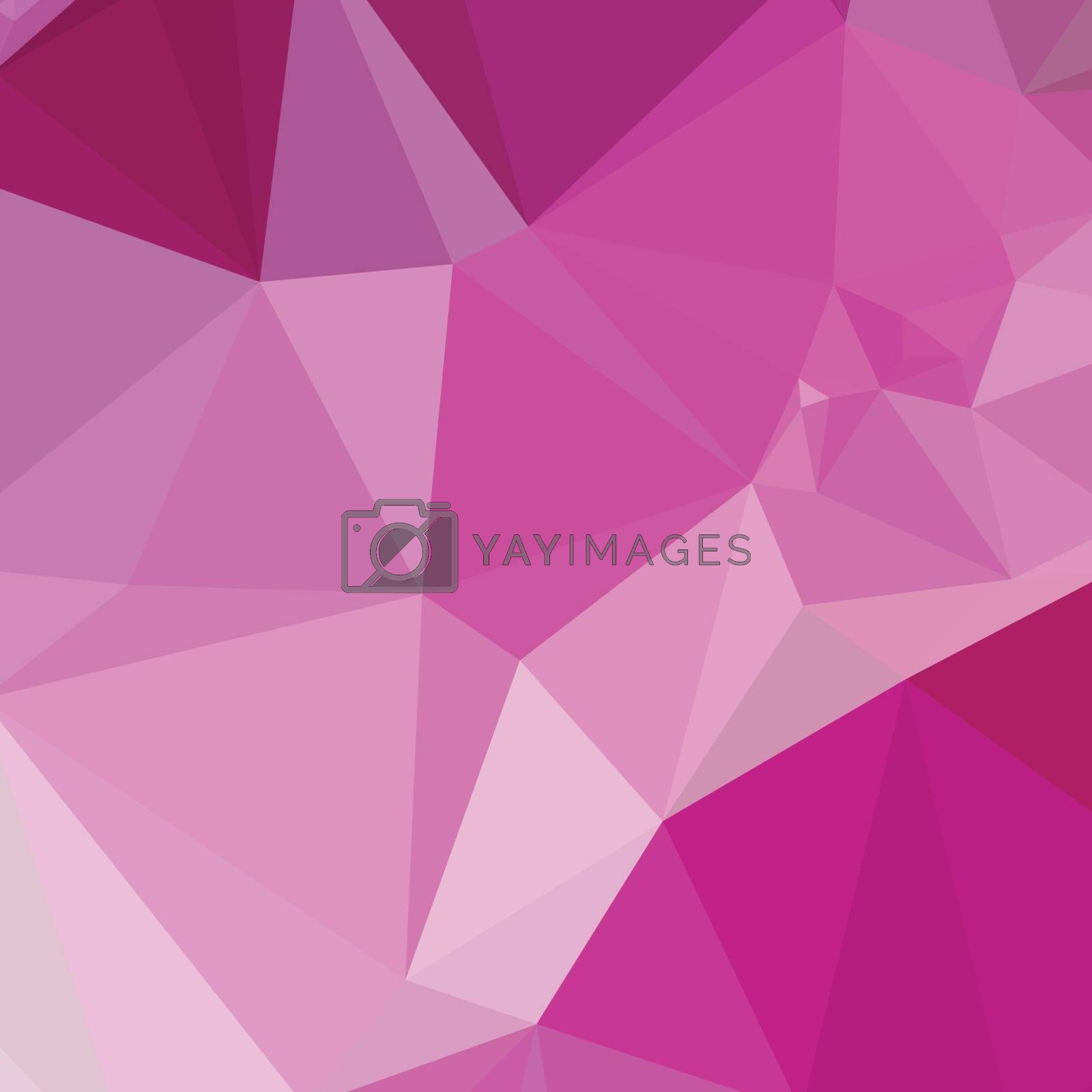 Low polygon style illustration of a fashion fucshia pink abstract geometric background.