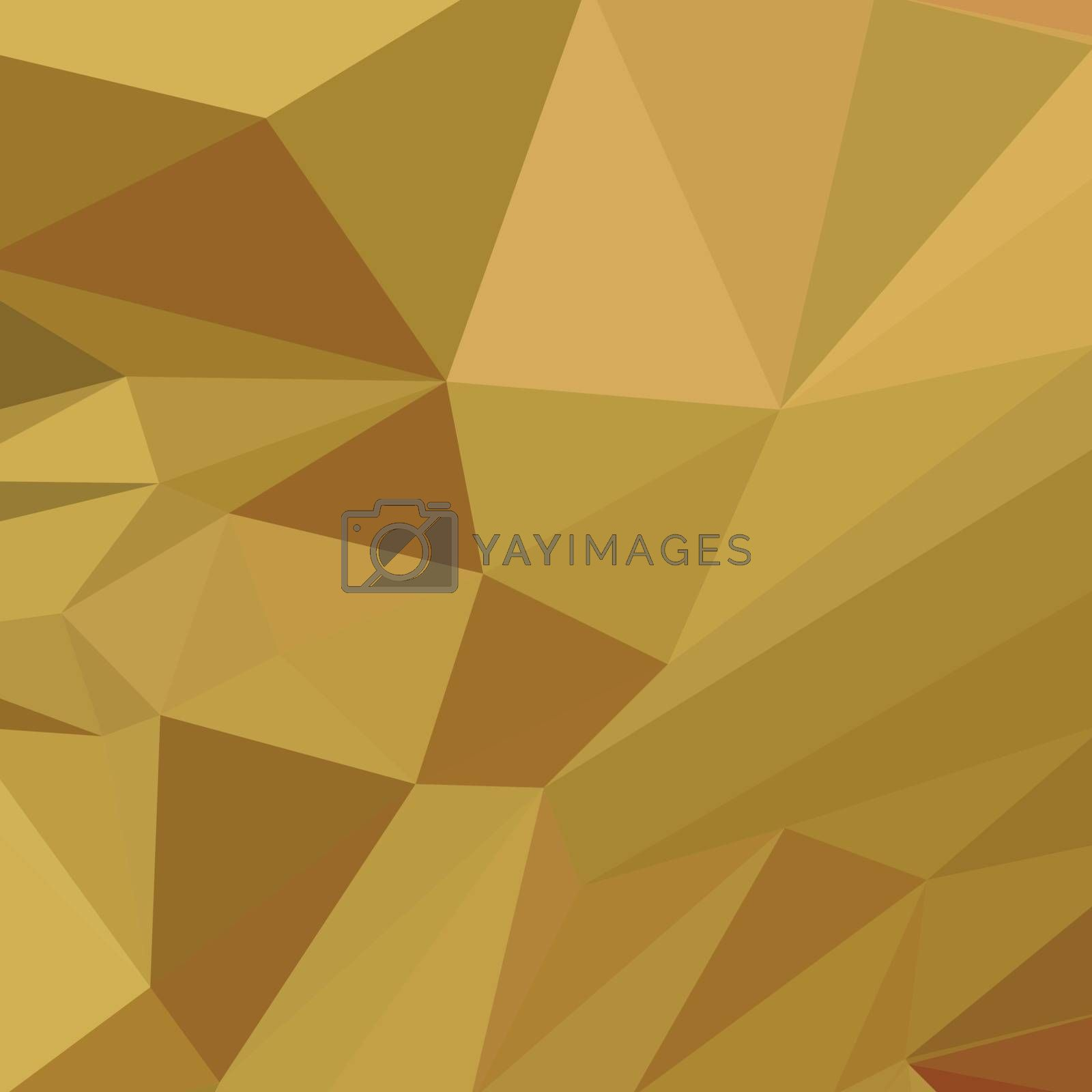 Low polygon style illustration of goldenrod yellow abstract geometric background.