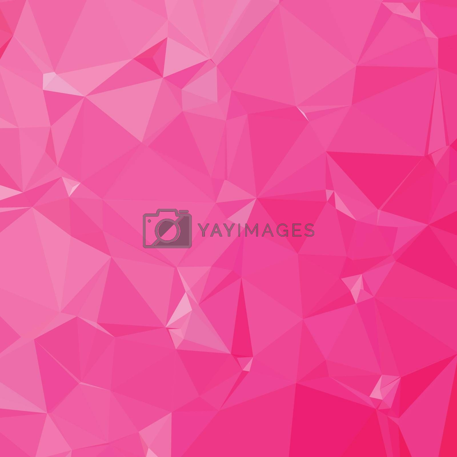 Low polygon style illustration of a persian rose pink abstract geometric background.