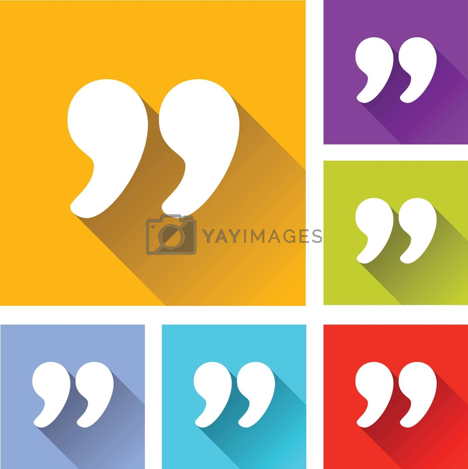 illustration of colorful square chat icons set
