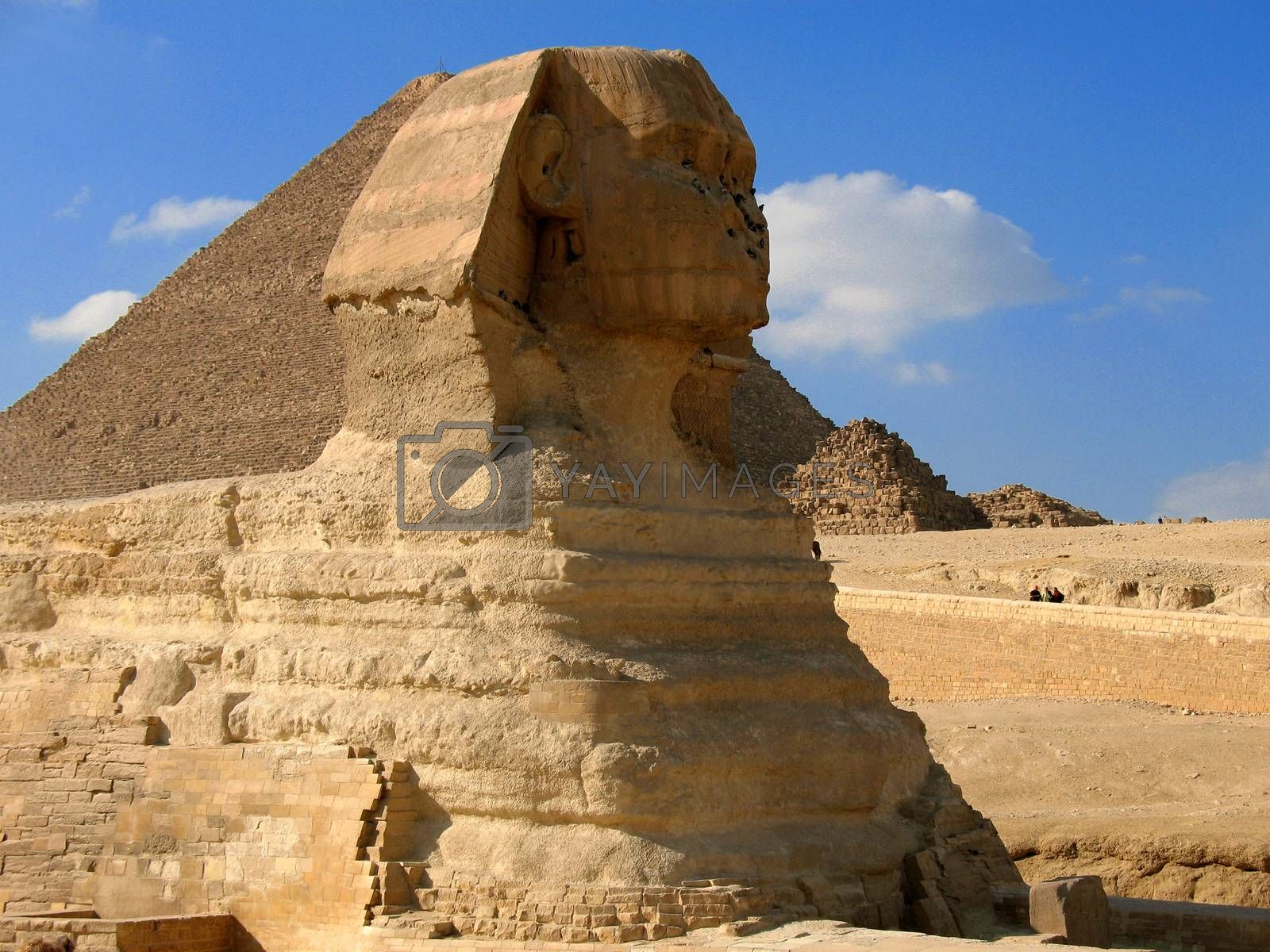 Sphinx. Ancient megalytic creation of the disappeared civilization.