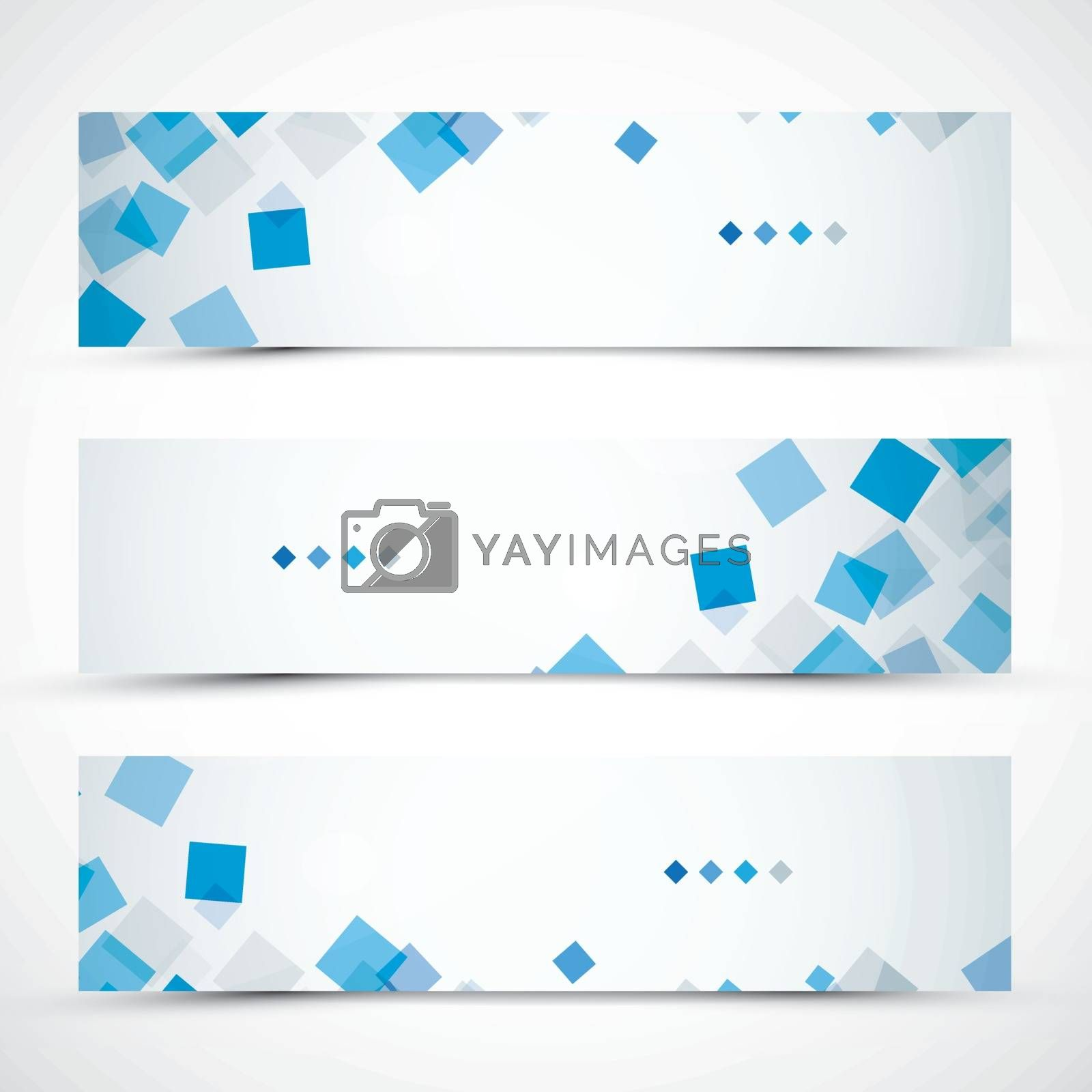 Set of abstract and colorful banners.