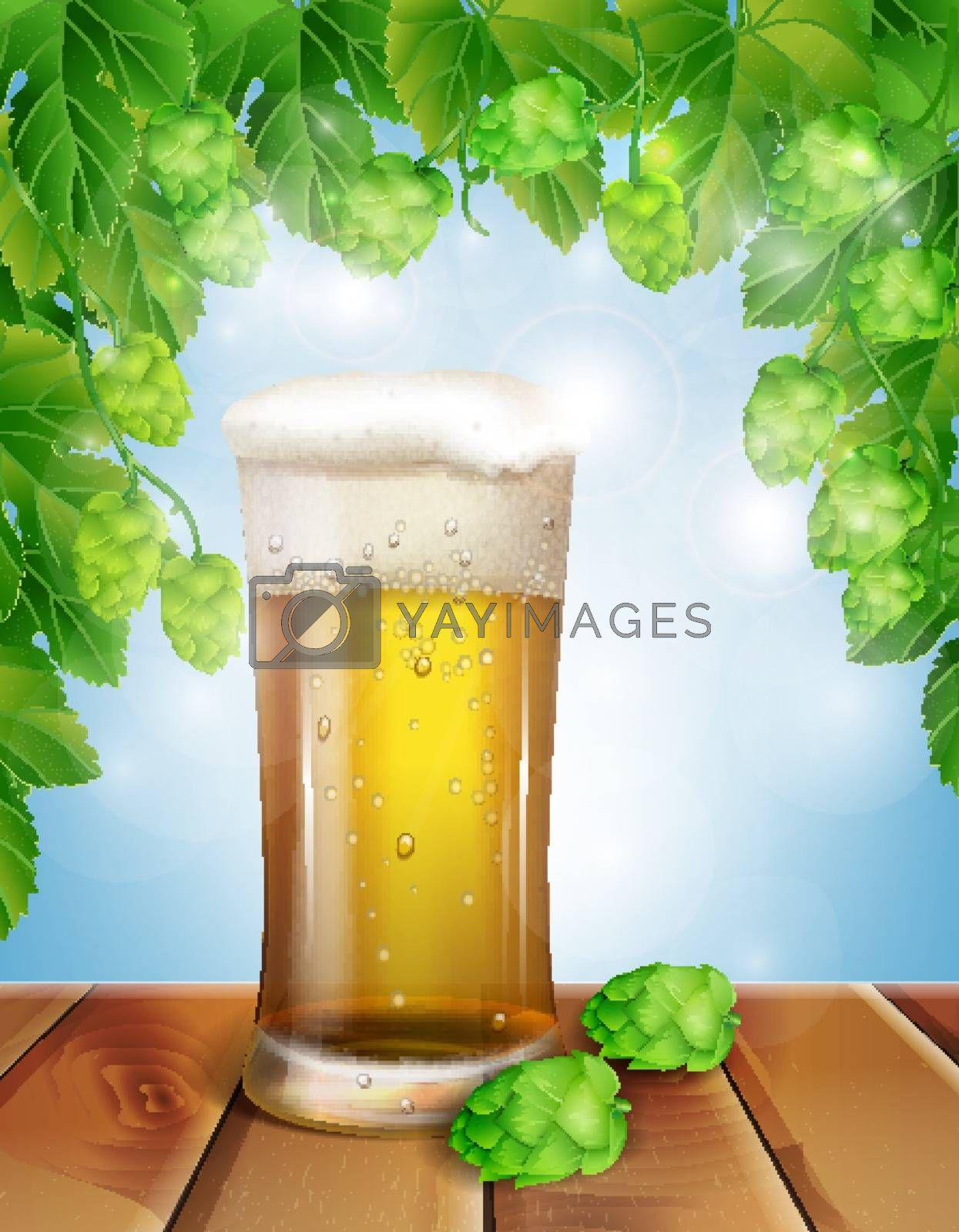 Colorful beer background in this illustration
