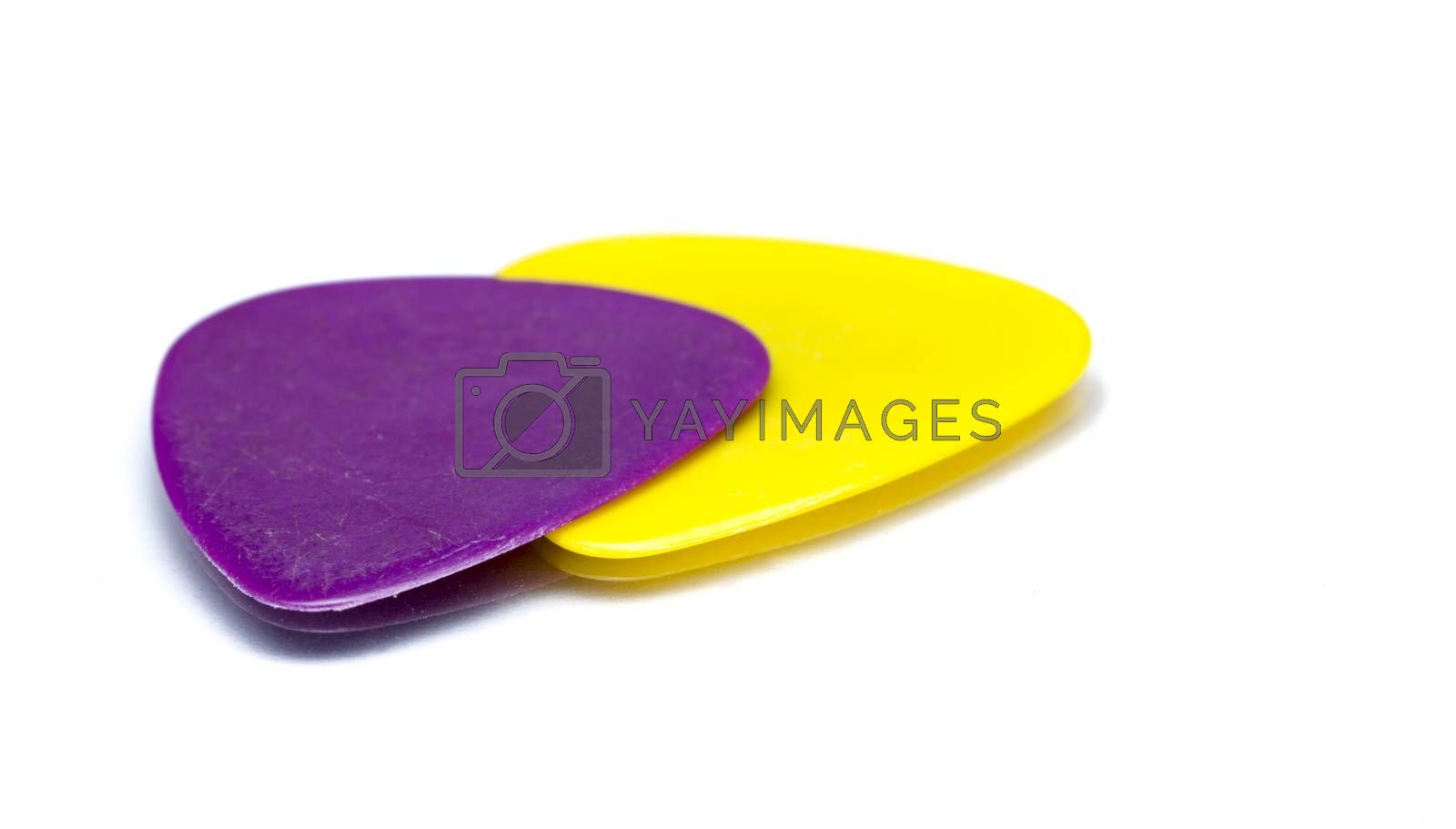 Two Plectrum Studio Isolated with Shadow