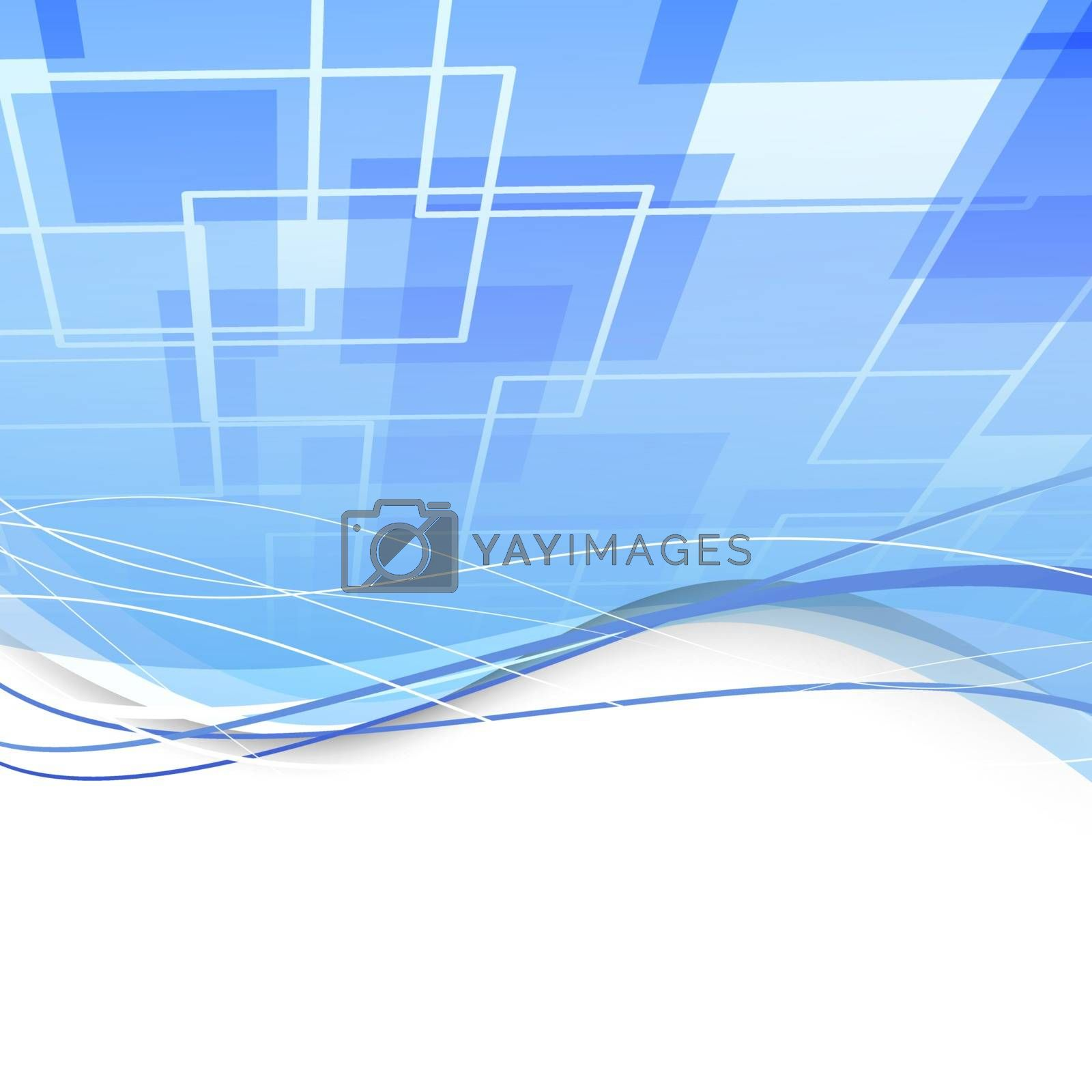 Vector illustration with a blue background.