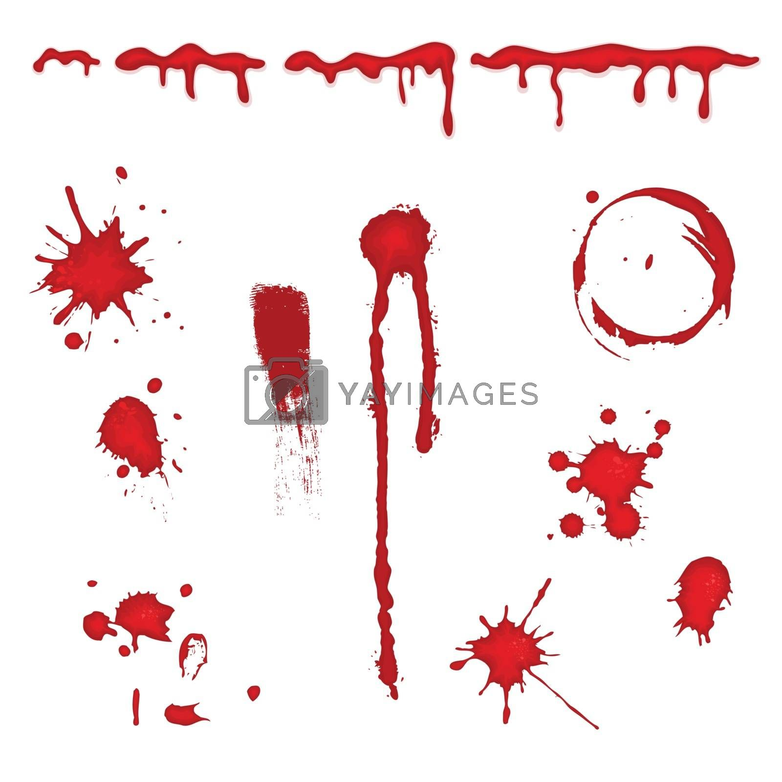 White background with red blood elements
