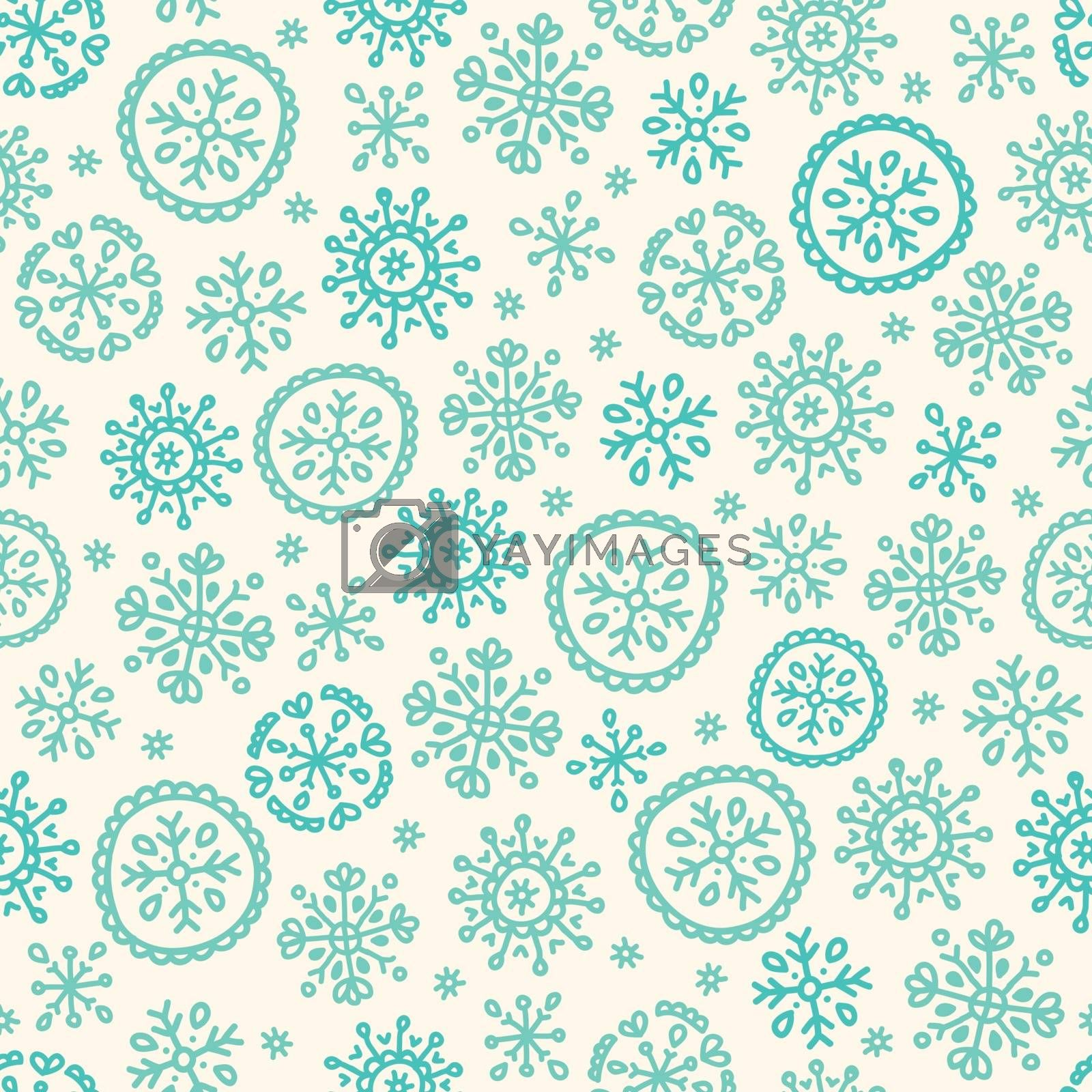 Vector illustration with classic Christmas pattern.