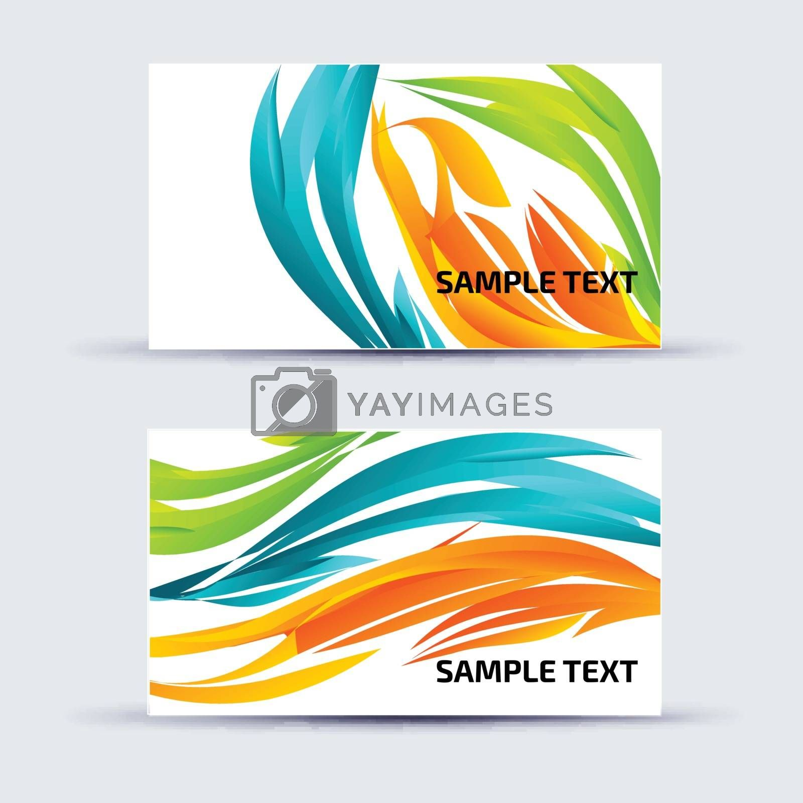 Vector illustration with a business card template.