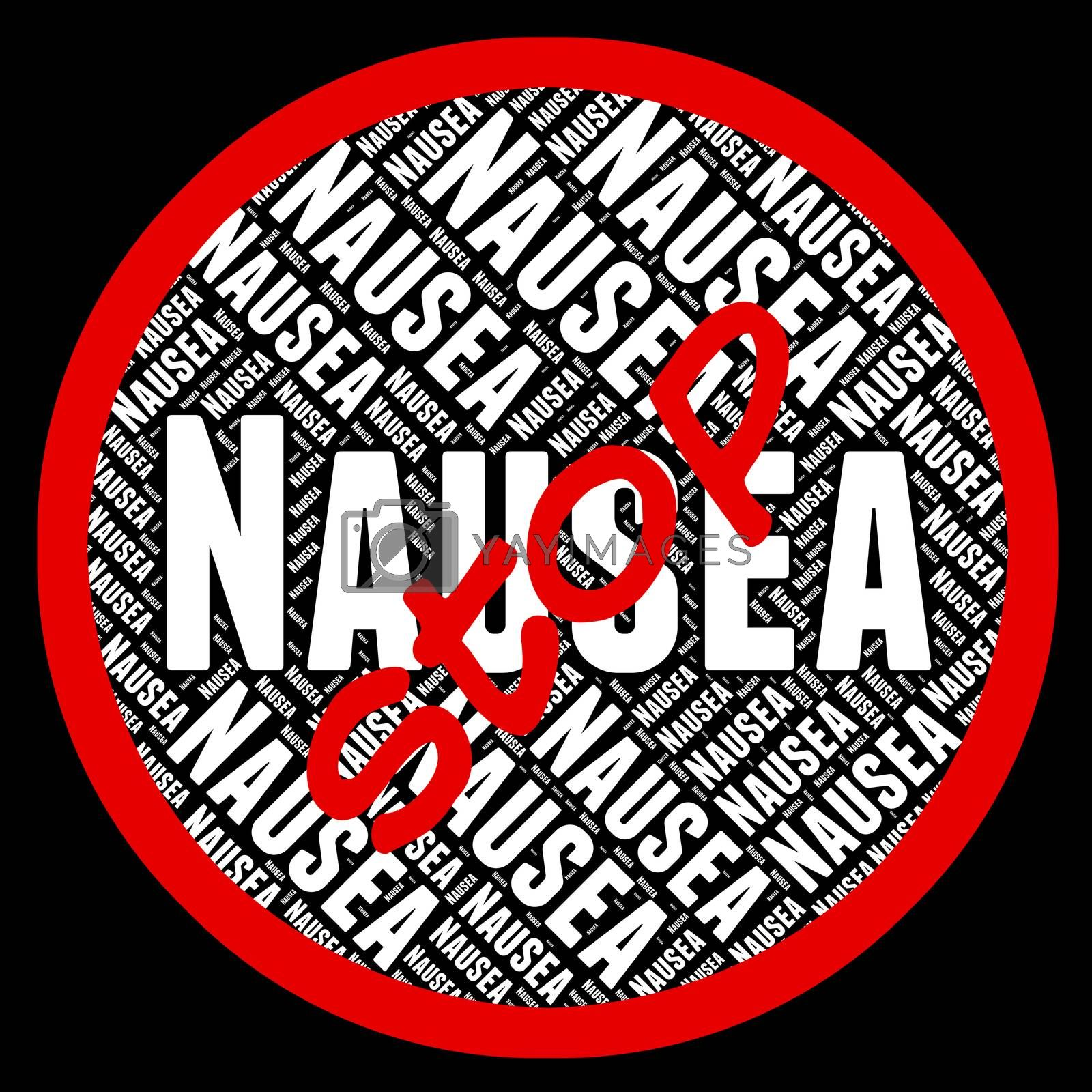 Stop Nausea Showing Motion Sickness And Prohibit