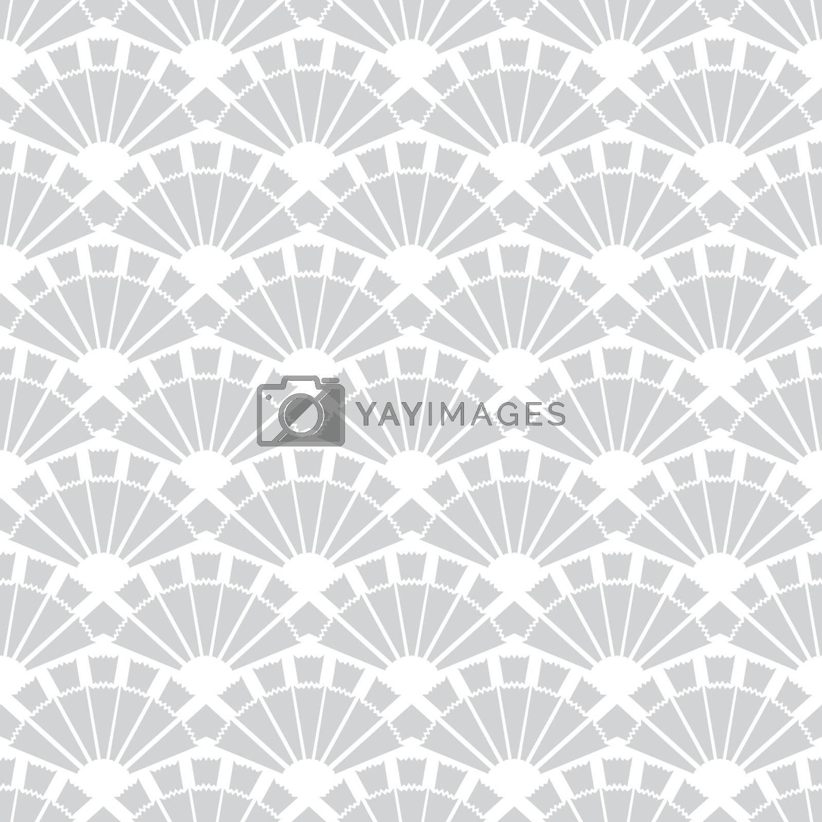 Vector Gray Fans Texture Seamless Pattern graphic design