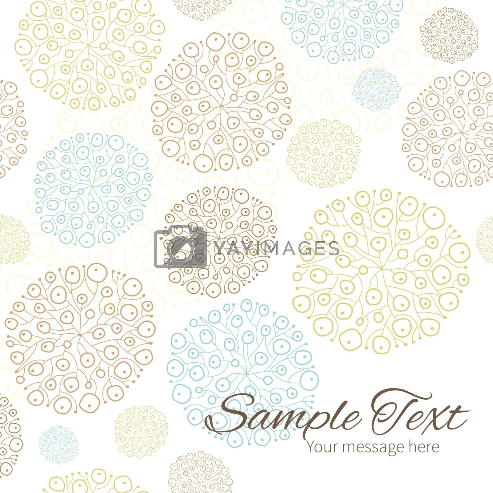 Vector blue brown abstract seaweed texture frame corner pattern background graphic design