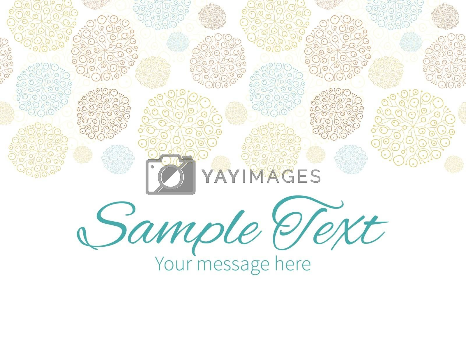 Vector blue brown abstract seaweed texture horizontal border greeting card invitation template graphic design