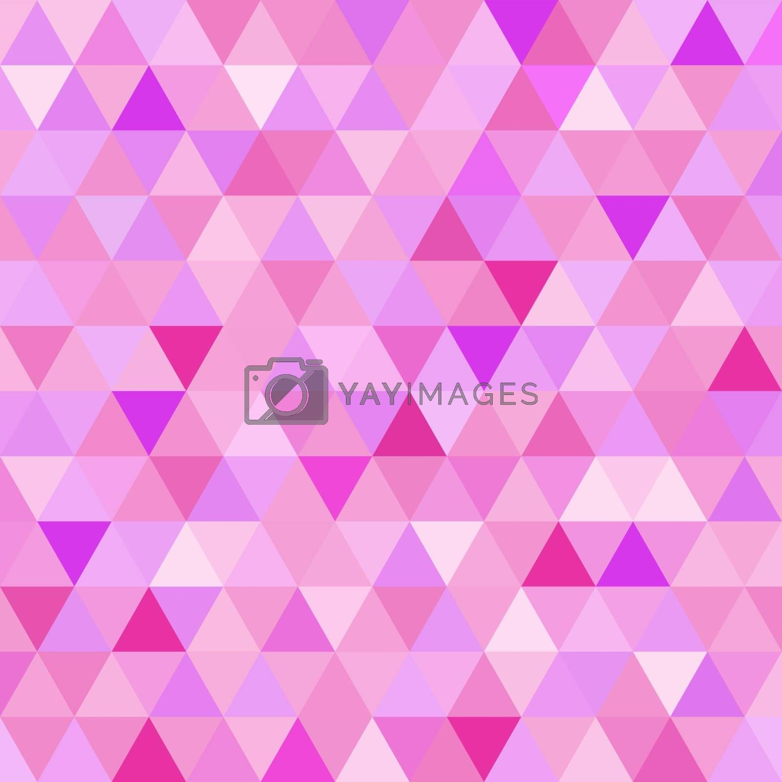 Geometry abstract pink vintage retro seamless pattern triangle tiled mosaic background. Ideal for fabric, wrapping paper, or print. EPS10 vector file.